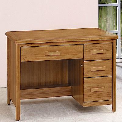 H&D 愛莉絲柚木3.5尺書桌 (寬106X深66.5X高81.3cm)