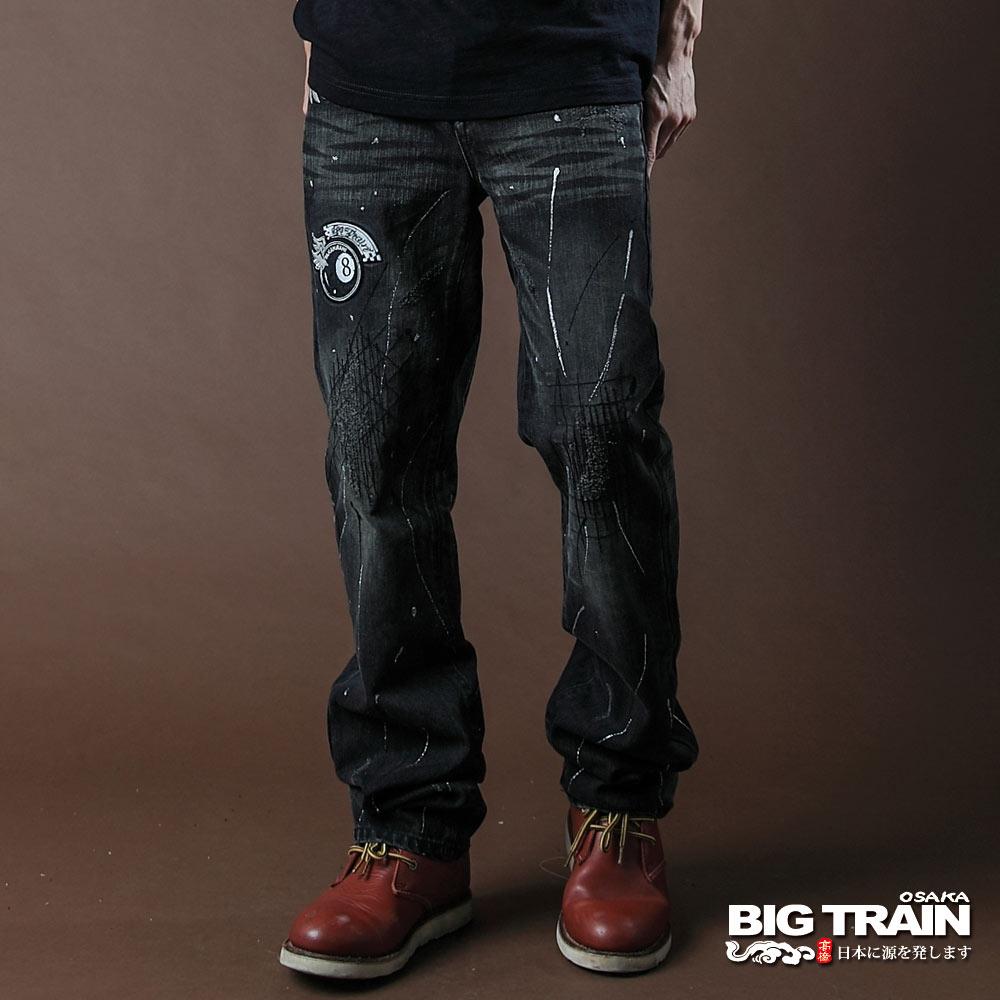 BIG TRAIN-BLACKBIKER潮洗小直筒褲-黑