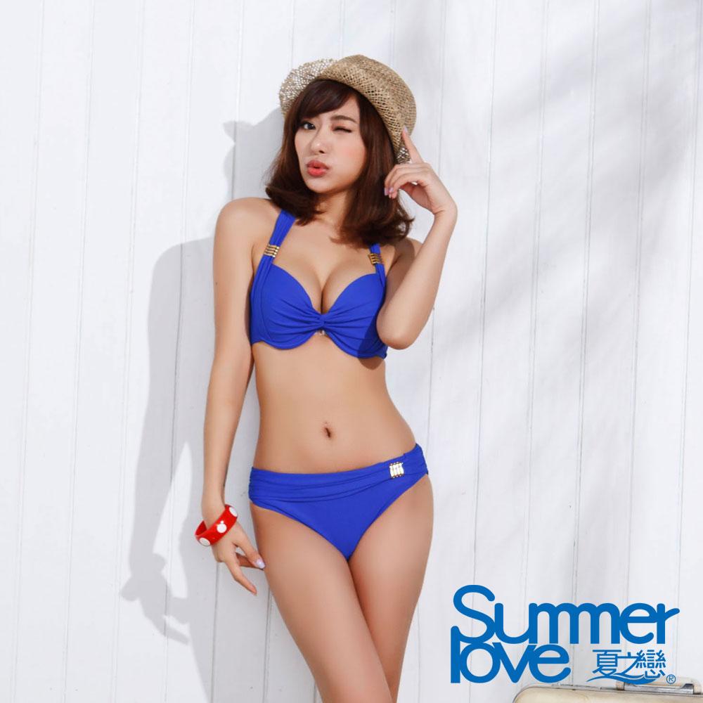 夏之戀SUMMER LOVE 優雅素面比基尼兩件式泳衣
