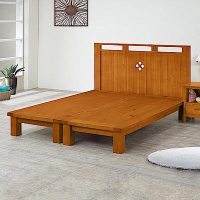 Bernice-維嘉5尺實木雙人床組(床頭片+床架) @ Y!購物