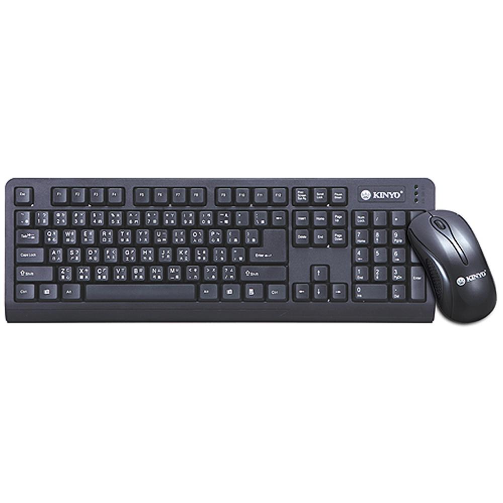 KINYO低噪音標準PS2鍵盤+USB滑鼠組(KBM-360)