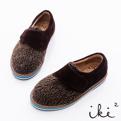 iki2童鞋-羊麂皮柔軟厚底牛津鞋-咖啡