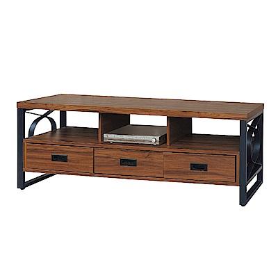 品家居 莎多5尺胡桃木紋長櫃/電視櫃-150.2x40.2x50.5cm免組