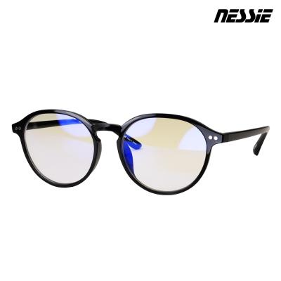 Nessie尼斯眼鏡 抗藍光眼鏡-復古系列-文青黑