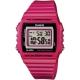 CASIO 超亮LED大螢幕方形數位錶-熱血紅(W-215H-4A)/40mm product thumbnail 1
