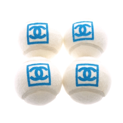CHANEL 經典雙C LOGO網球(天空藍_4顆)
