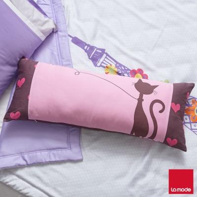 La-Mode寢飾-貓咪傳情長抱枕-含枕芯