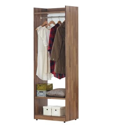 品家居 墨爾2尺單吊開放衣櫃-60x46x196cm-免組