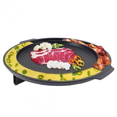 【韓國Kitchen Flower 】原裝大理石雙用圓烤盤NY2499(直徑37CM)