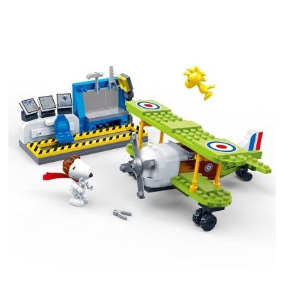 BanBao邦寶積木 史努比系列 Peanuts Snoopy 王牌飛行員 7522