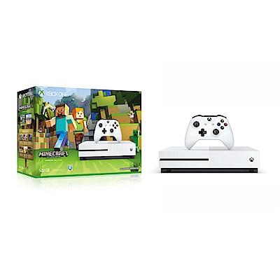 Microsoft Xbox One S 500GB我的世界同捆組(軟體拆封無鑑賞期)