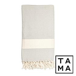 TAMA 天然純淨頂級土耳其手工多功能巾(白煙迷宮)
