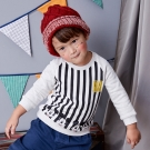 Disney baby 米奇系列條紋刷毛上衣 (共2色)