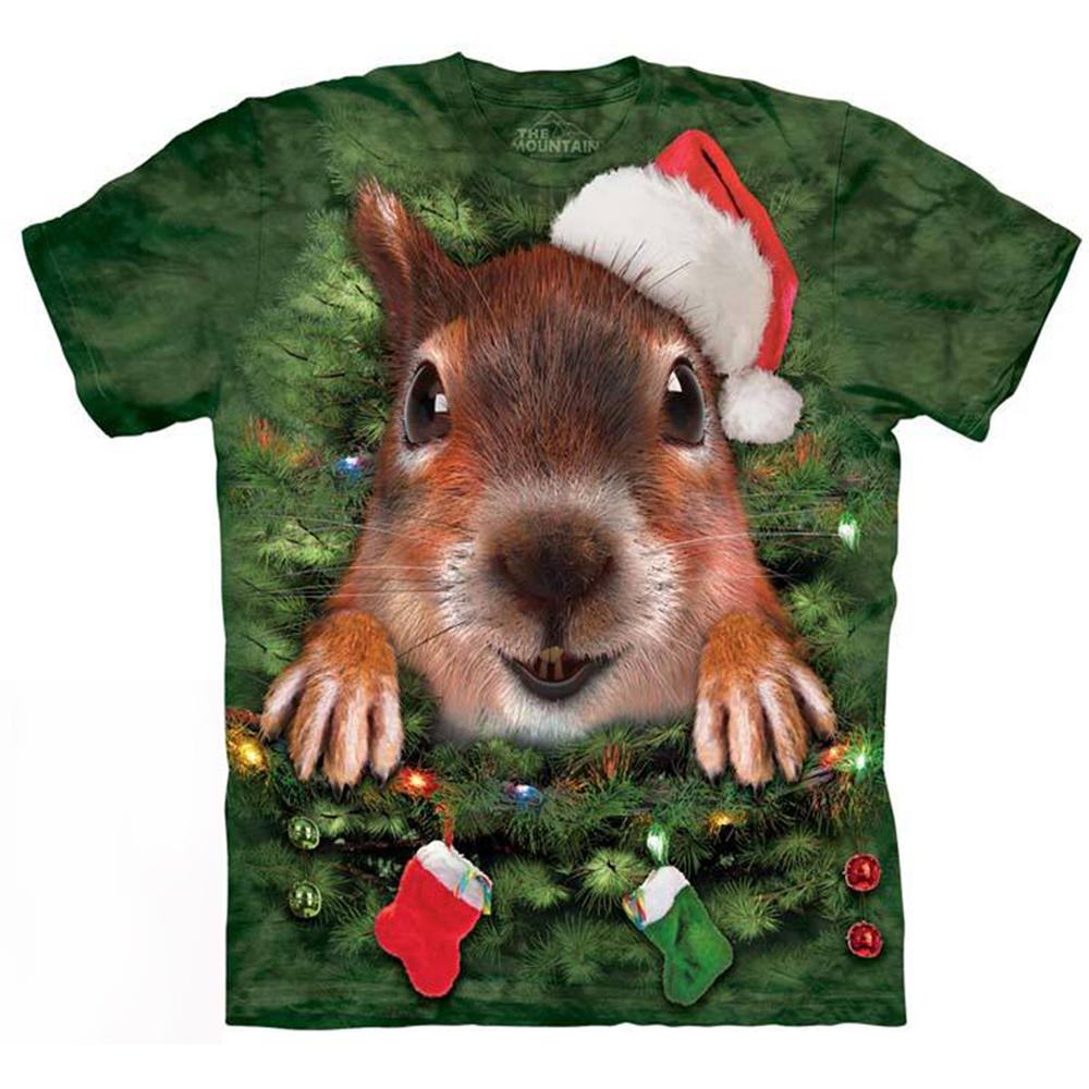 摩達客美國進口The Mountain聖誕松鼠短袖T恤