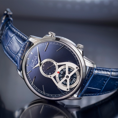 DAVOSA Cuore? COLLECTIO –經典雙??GMT系列腕錶-藍面/42mm