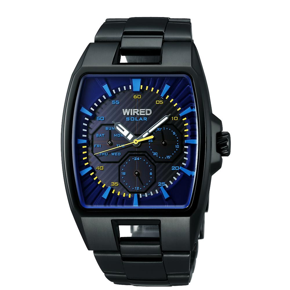 WIRED HYBRID日雜時尚腕錶(AUB027X1)-IP黑/37x38mm