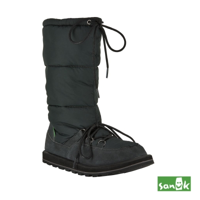 SANUK 防水機能長筒雪靴-女款(黑色)