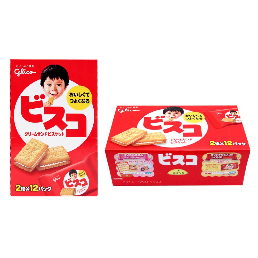 Glico固力果 夾心餅乾(98.88gx2盒)