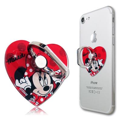 迪士尼授權正版 心型系列手機防摔造型指環扣 手機支架(米妮)