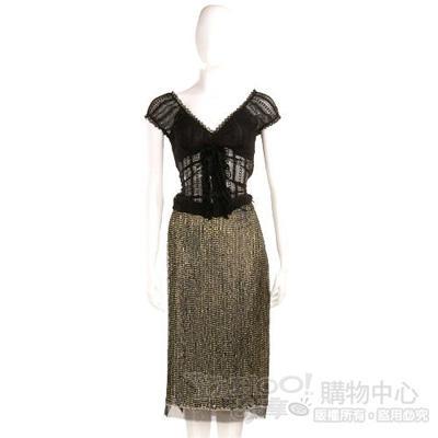 Lorella Braglia黑灰色亮片裙