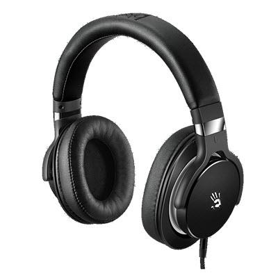 A 4 雙飛燕 Bloody M 550  魔磁雙震膜高音質音樂耳機 (黑灰)