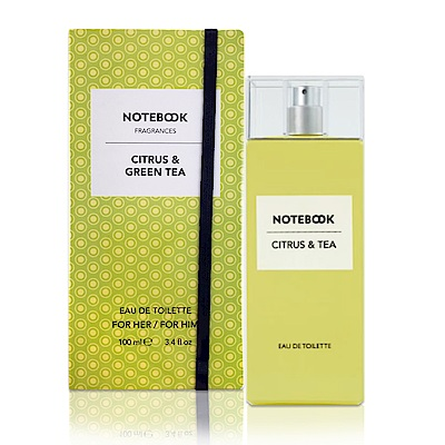 AQUOLINA Notebook 柑橘&綠茶中性淡香水100ml(贈隨機名牌小香)