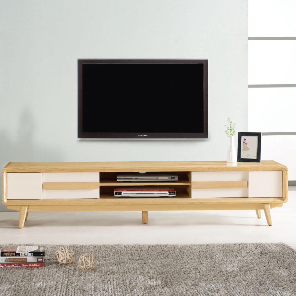 品家居 雷莉6.8尺長櫃/電視櫃-205x40x42.5cm-免組