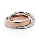 CK Calvin Klein  coil雙環式愛戀玫瑰金時尚設計款戒指