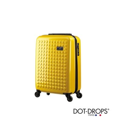 DOT-DROPS 20 吋 X-TRA 輕量客製點點硬殼行李箱 - 俏麗黃