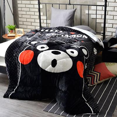 Kumamon熊本熊 秘魅 加厚法蘭絨暖呼呼造型暖被一入