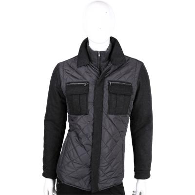 Michael Kors 深灰色菱格拼接設計外套(男款)