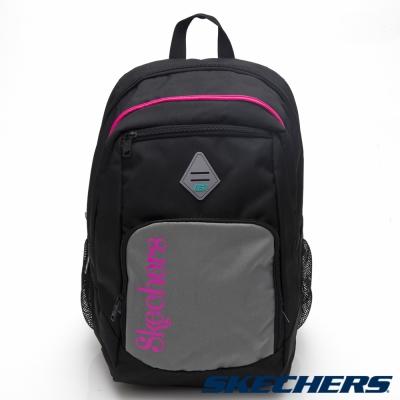 SKECHERS-電腦後背包-黑-S26906