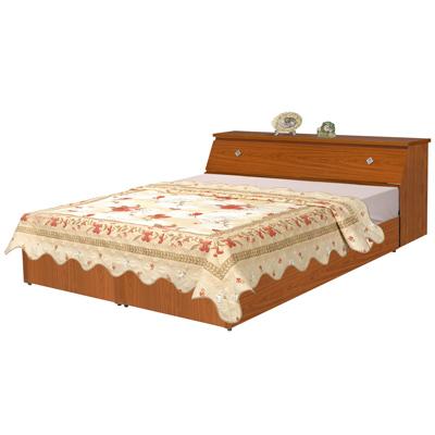 時尚屋-溫莎5尺床箱型雙人後掀床-床頭箱-掀床底