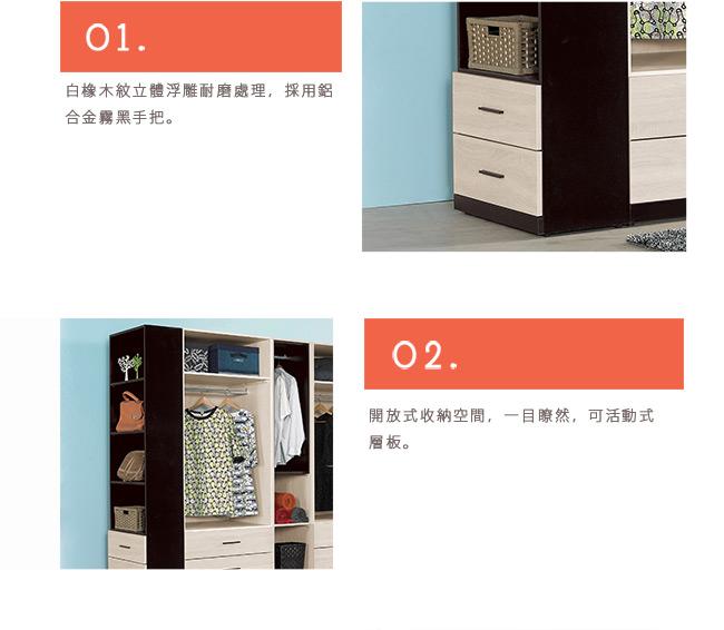 H&D 伊凡卡2尺開放式二抽櫃 60x32x197CM
