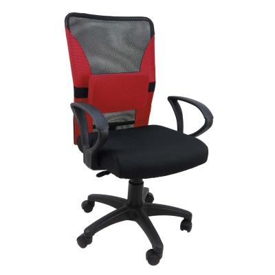 Design 拼色網布厚座墊附腰枕/辦公椅/電腦椅 4色