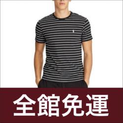 POLO Ralph Lauren黑白條紋短袖T恤