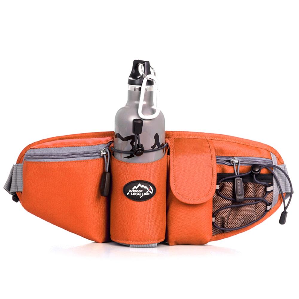 6602 OG橘色 戶外多功能水壺腰包/斜背包