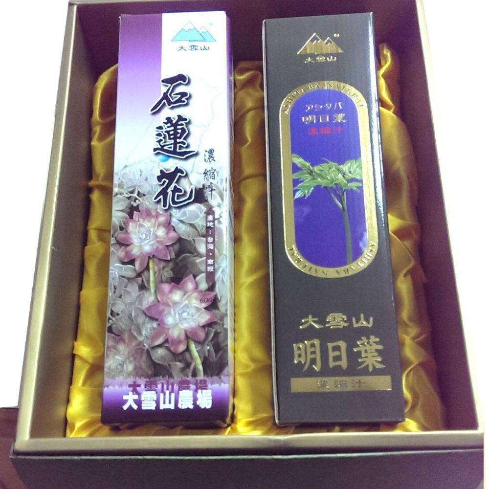 大雪山農場 石蓮花&明日葉濃縮汁/禮盒(2入/盒)