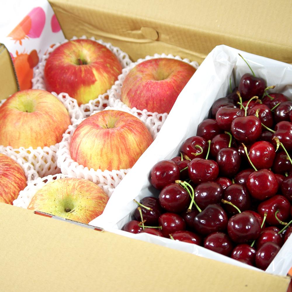 鮮果日誌 - 夏季王牌禮盒組(智利蘋果6入+美加櫻桃2.5台斤)