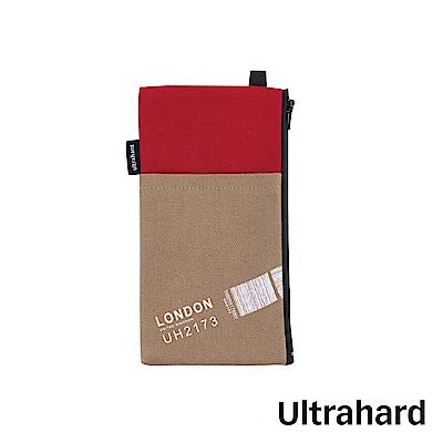 Ultrahard Traveler Destn手機袋-倫敦(紅卡其)
