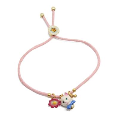 Les Nereides 貓咪系列 可愛小貓 粉色手繩手鍊 法國 巴黎 設計師