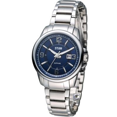 STAR 時代 花舞時尚仕女腕錶-藍/32mm