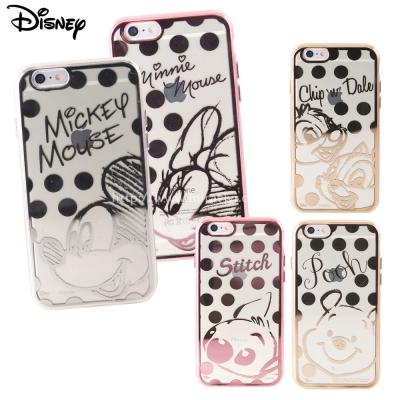 Disney迪士尼iPhone 6/6S Plus時尚質感電鍍保護套-點點系列