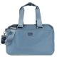 agnes b. 雙槓金屬LOGO尼龍旅行袋(小/霧藍) product thumbnail 1