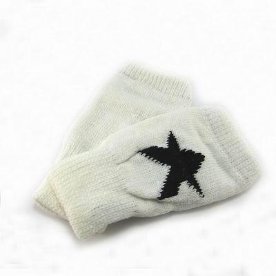 Decoy-率性星星-時尚露指手套-白