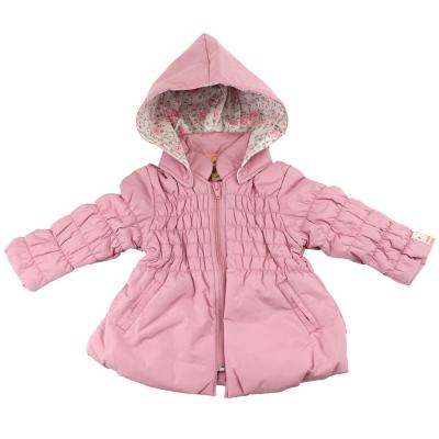 愛的世界 MYBABY 防風舖棉小熊甜心長袖連帽外套/2~4歲