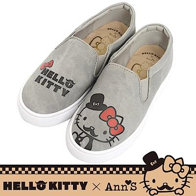 HELLO KITTY X Ann'S親子系列鬍子達利懶人鞋童鞋-灰