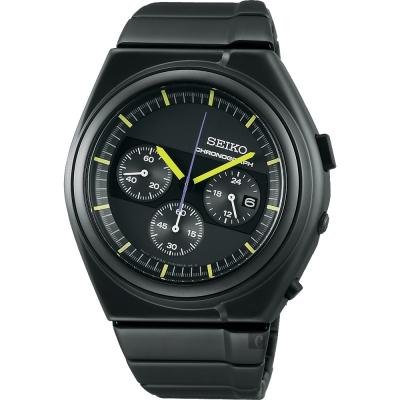 SEIKO精工 GIUGIARO DESIGN 聯名設計限量計時腕錶(SCED059J)