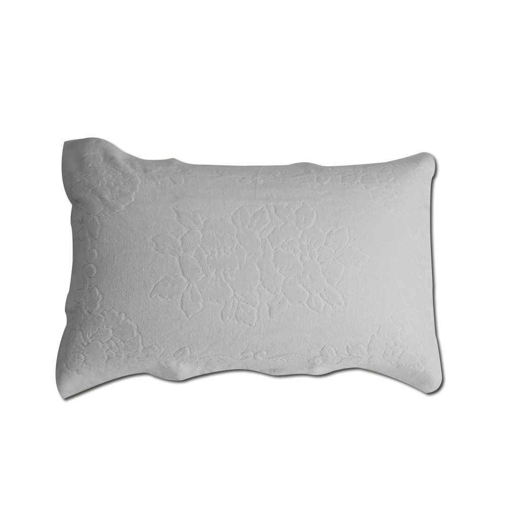 《HOYA active》超柔細純棉壓紋枕巾(2入) 1.潔淨白