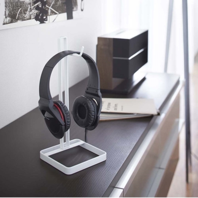 【YAMAZAKI】桌上型耳機掛架-白★耳機架/包包架/香蕉掛架/耳機收納